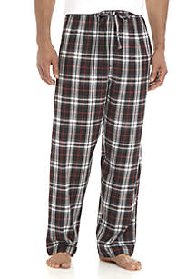 Big & Tall Yarn Dyed Plaid Flannel PJ Pants