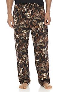 Camo Deer Print Flannel PJ Pants
