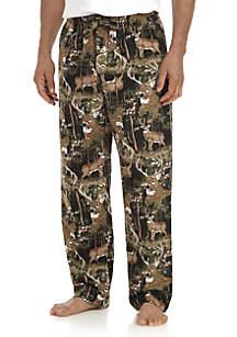 Deer Print Flannel Sleep Pants
