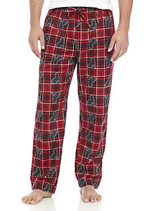 Plaid Printed Flannel PJ Pants