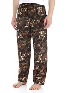 Big & Tall Flannel Deer Print Pants