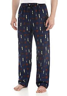 Big & Tall Flannel Fish Print Lounge Pants
