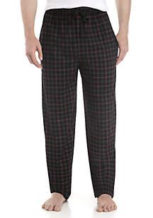 Big & Tall Knit Grid Pattern Pants