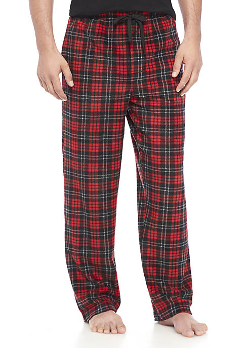 Saddlebred® Plaid Microfleece Pants