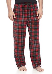 Plaid Microfleece Pants