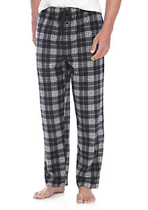 Plaid Microfleece Sleep Pants