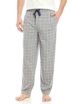 d2ef897119 Saddlebred® Gray Heather Grid Knit Pajama Pants ...