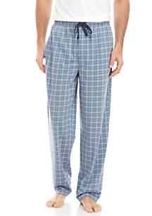 Saddlebred® Blue Heather Grid Knit Pajama Pants