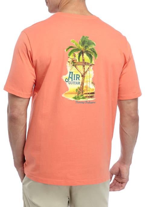 Mens Short Sleeve Air Guitar Graphic T-Shirt