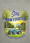 Mens Short Sleeve Stay Mowtivated Graphic T-Shirt