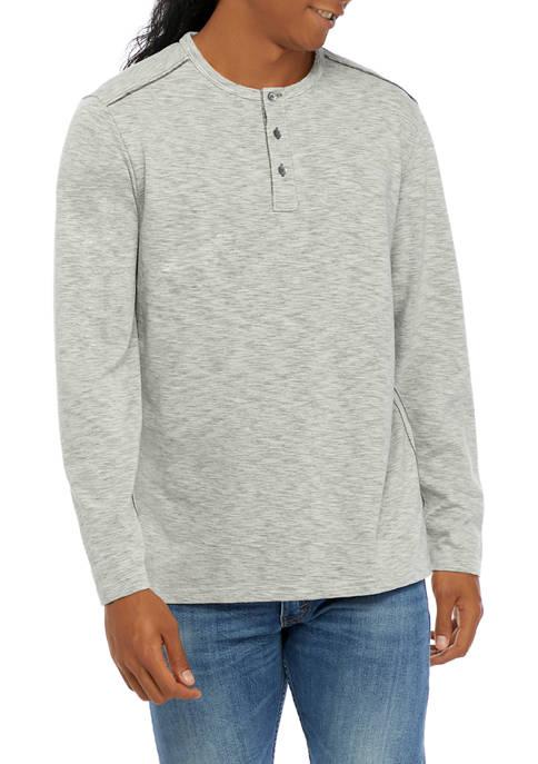 Mens IslandZone® Fray Day Henley Shirt