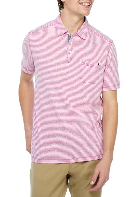 Mens Sand Harbor Stripe Polo Shirt