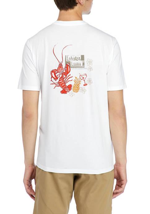 Mens Short Sleeve Lobster Graphic T-Shirt