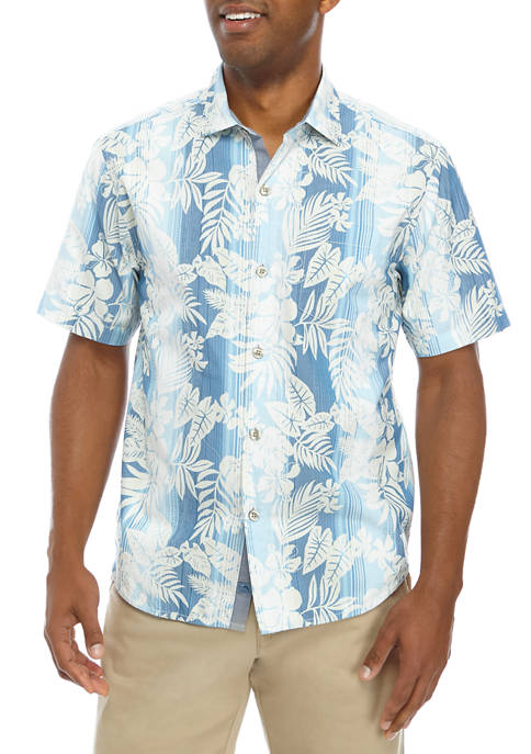 Tommy Bahama® Mens Bluewater Stripe Button Down Shirt