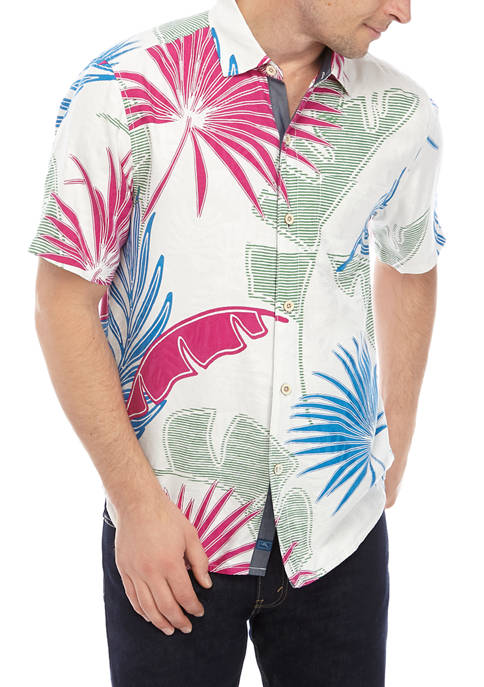 Tommy Bahama® Mens Deco Palmetto Button Down Shirt