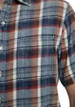 Mens Plaid Button Down Shirt