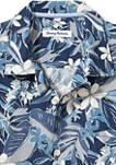 Mens Paradise Plumeria IslandZone® Camp Shirt