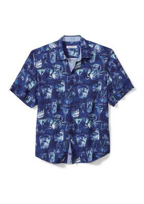 Tommy Bahama Mens Bar None Camp Shirt