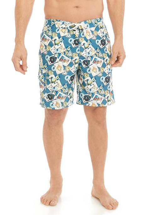 Tommy Bahama® Baja Stack the Deck Swim Trunks