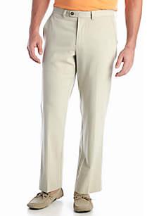 Standard-Fit Coastal Twill Flat Front Pants