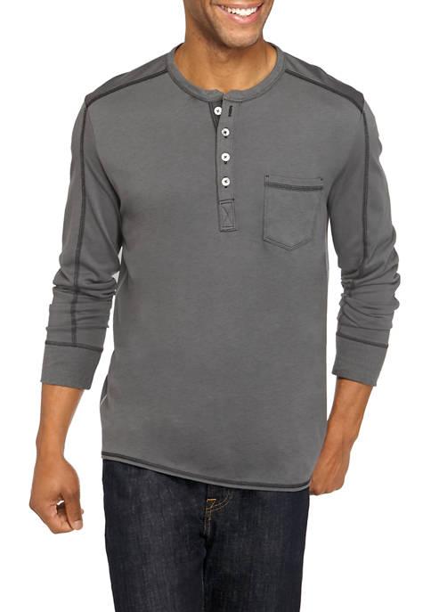 Mens San Jacinto Long Sleeve Henley Shirt
