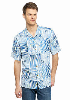 Tommy Bahama® Terrace Tiles Short Sleeve Woven Shirt