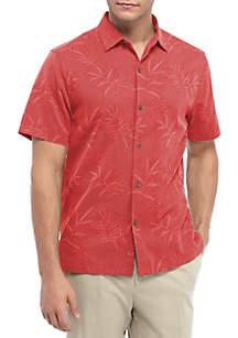 Luau Floral Short Sleeve Button Down Shirt
