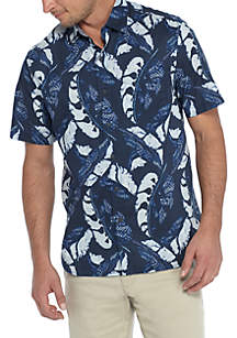 Short Sleeve Lunar Leaves Shirt