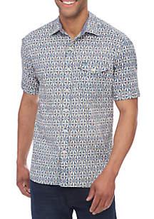 Short Sleeve Mayan Tiles Shirt