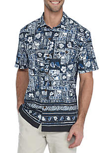 Short Sleeve Island Zone Veracruz Border Tiles Shirt