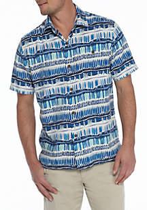 Short Sleeve Island Zone Geo Surf Shirt