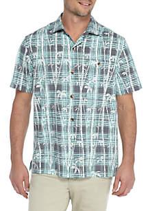 Short Sleeve Island Zone Bianco Bambo Shirt
