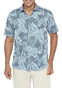 Tropical Tones Short Sleeve Button Down Shirt