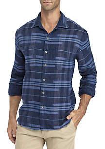 Long Sleeve Amparo Plaid Button Down Shirt