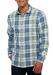 Long Sleeve Palapa Plaid Button Down Shirt