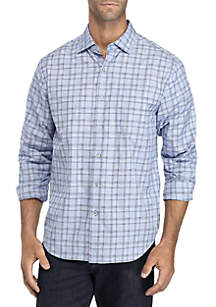 Long Sleeve Caturra Check Button Down Shirt