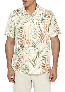 Teatro Palms Short Sleeve Button Down Shirt