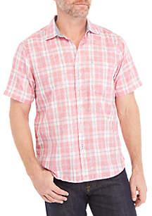 Hidden Flora Short Sleeve Button Down Shirt