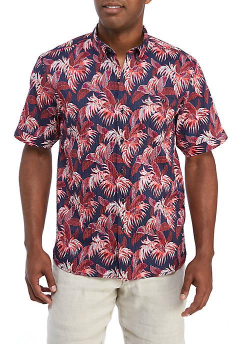 Frond Print Short Sleeve Shirt