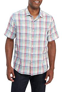 62464ff64 ... Tommy Bahama® Island Etched Print Short Sleeve Shirt