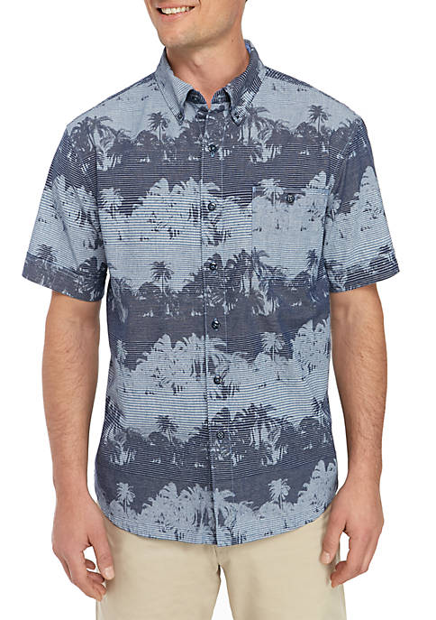 Pixel Palms Short Sleeve Shirt