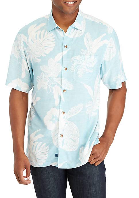 Tommy Bahama® Geometric Leaf Button Down Shirt