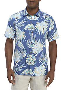 Tommy Bahama® Geometric Monstera Leaf Short Sleeve Shirt