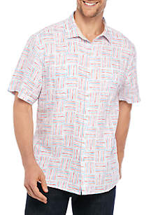 Tommy Bahama® Lei Como Check Button Down Shirt