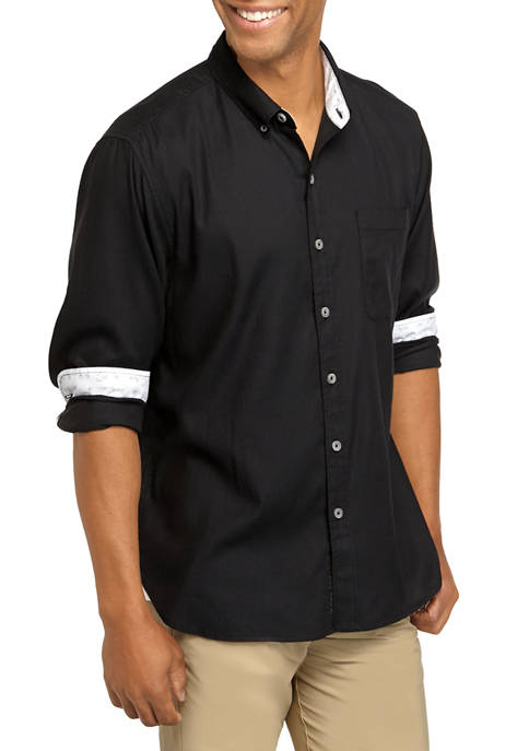 Mens Huntington Herringbone Shirt