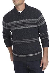 Long Sleeve Palo Verde Shawl Neck Sweater