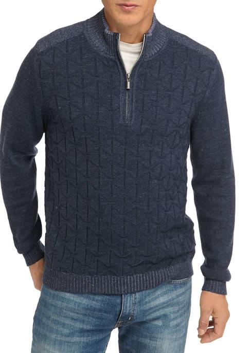 Mens Palm Vista Half Zip Sweater