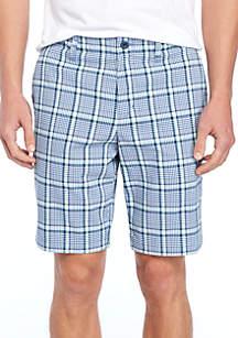 Deltona Plaid Flat Front Shorts