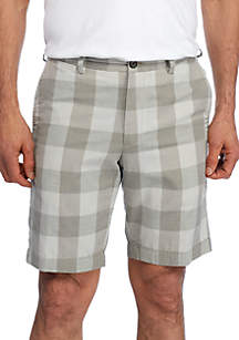 Diego Plaid Flat Front Shorts