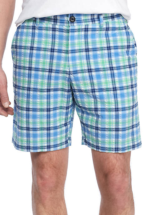 Tommy Bahama® Chaser Check Flat Front Shorts